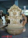 Fontana di parete di pietra naturale della testa del leone (SY-WF005)