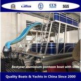 Aluminio Bestyear Pontoon Boat con la diapositiva