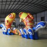 Раздувная модель рыб для рекламы