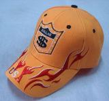 Heiße Panel-Baseballmütze des Verkaufs-6 mit großem Firmenzeichen