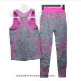 Whosaleの方法圧縮のタイツの適性の摩耗の女性のヨガのスーツ