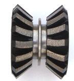Колесо выключателя края диаманта двойное для каменный профилировать края