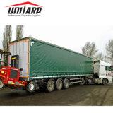 De ZijGordijnen van Cover& van de Aanhangwagen/van de Container van de Vrachtwagen van het Geteerde zeildoek van pvc