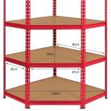 Bastidor de acero estantes de almacenamiento de nivel 5 estante de la esquina