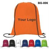 Los cordones de bolsa, bolsa de poliéster, el deporte bolso, mochila, Mochila, bolsa de nylon, la promoción Bag