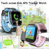 플래쉬 등 (D26)를 가진 GPS 추적자 시계가 접촉 스크린에 의하여 농담을 한다