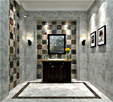 Mattonelle rustiche della stanza da bagno della pavimentazione della pietra del cemento delle mattonelle Sn6202