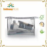 명확한 메시 PVC 화장품 부대