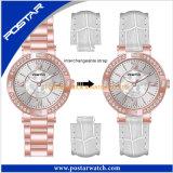 ステンレス鋼の背部バンドが付いている防水スポーツの水晶腕時計