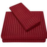 Jogo Home do Bedsheet do fundamento de Microfiber da listra lisa contínua Home de matéria têxtil