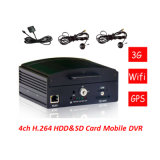 4CH H. 264 Full D1 жестких дисков и SD Card Mobile DVR GPS автомобиль