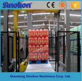 가득 차있는 자동적인 깔판 음료 감싸는 기계