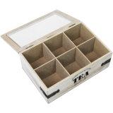 Caja de Té de madera con tapa deslizante