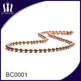 2,4 mm de la cadena de bolas de metal de hierro con el carrete
