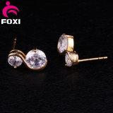 象眼細工の水晶ラインストーンのイヤリングの耳の宝石類