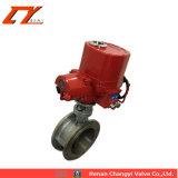 El precio bajo de accionamiento eléctrico de aluminio de la mitad de la válvula de bola con rojo