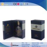 Boîte simple en cuir à vin d'étalage de bouteille d'unité centrale (6694)