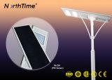 Lâmpada de rua solar completa do sensor de movimento de PIR com controlador de MPPT