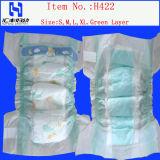 Couches jetables de bébé de couches-culottes avec les bandes de magie (H422)