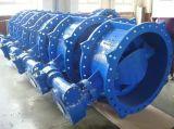 Doppeltes doppeltes exzentrischdrosselventil des Flansch-BS5155, mit Getriebe, Series13/14, DIN3202 F4, Pn10/Pn16/Pn25
