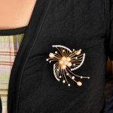 جديدة تصميم زركون زجاجيّة نساء ملابس ثانويّ لؤلؤة دبوس الزينة