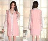 """Pijamas """"sexy"""" Sy10308090 do laço de Microfiber das mulheres por atacado do Nightwear da roupa de noite"""