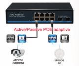 Активно/пассивная приспособительная поддержка 24V&48V переключателя Poe в то же самое время без любой установки