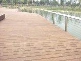 Suelo de bambú al aire libre barato de la cubierta con el bambú tejido hilo