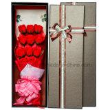 Cadre de empaquetage en gros de Valentine Rose de boîte-cadeau d'emballage de fleur de Rose