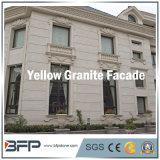 黄色いカラーの壁のクラッディングの床のための磨かれた花こう岩の正面の石のタイル