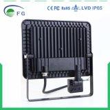IP65 2yearsの保証の動きセンサー屋外50W PIR LEDの洪水ライト