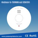 Het Alarm van de Rook van de Detector van de Rook van Peasway met 3V de Batterij van het Lithium pw-518-B3