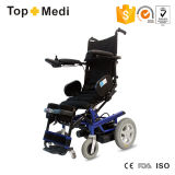 Hohe Rückseite, die oben elektrischer Strom-Seiten-Controller-Rollstuhl steht