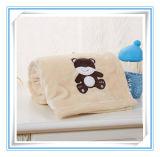 Super weicher Minky Flanell gestickte Baby-Decke