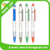 주문 로고 플라스틱 볼펜 (SLF-PP001)를 광고하는 다색 볼펜