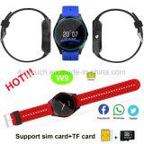 Colorida Watchband reloj teléfono Bluetooth Smart para regalo de promoción W9