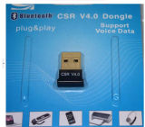 CSR de cobre chapado en equipo de audio USB dongle adaptador Bluetooth 4.0