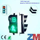 デジタル秒読みのタイマーが付いている高輝度LED点滅の横断歩道の信号