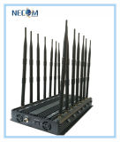 Construtor do sinal de WiFi Bluetooth do telemóvel do poder superior 2g 3G/jammer, jammer do VHF Lojack da freqüência ultraelevada do jammer do sinal do GPS WiFi do telefone de pilha 4G