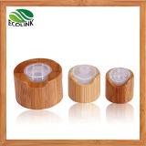 Frascos de vidro com bomba de bambu