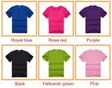 El color de encargo más barato y el logotipo 100% Poliester T-Shirt
