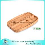 El disco de bambú del partido del rompecabezas las placas de 2 pedazos ensambla la tarjeta de bambú del bambú del disco