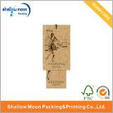 2016 Nuevo diseño Kraft papel impreso Hangtag (QYZ037)