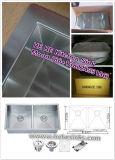 Küche-Wanne 8052al (70/30) des Edelstahl-304 für handgemachtes mit Cupc
