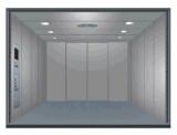 De geschilderde Lift van de Vracht van het Staal of van Roestvrij staal 304 van de Zaal van de Machine minder