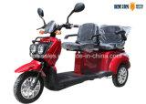 E-Triciclo elettrico del E-Motorino delle doppie sedi 3-Wheel del motorino di mobilità