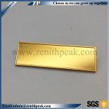 Moins cher Insigne de la plaque signalétique de l'or blanc avec la goupille de sécurité