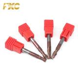 O carboneto de tungsténio HRC55 2 flautas Ferramenta de corte de alta velocidade