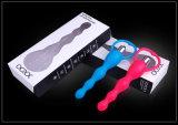La fantasía anal de silicona médica suave vibración de juguete Anal Beads