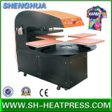 Tシャツの昇華転送のための自動4つの端末の熱の出版物の転送機械